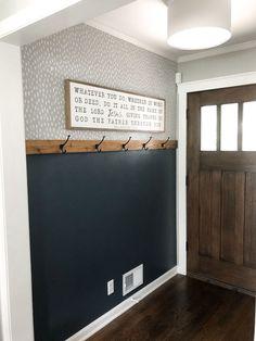 Diy Interior, Interior Design, Grey Interior Paint, Interior Wall Colors, Decoration Entree, Mindful Gray, Sweet Home, Diy Casa, Home Renovation