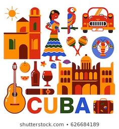 Find Illustrated Tourist Map Cuba National Color stock images in HD and millions of other royalty-free stock photos, illustrations and vectors in the Shutterstock collection. Afro Cuban, Cuban Art, Cuba Culture, Tourist Map, Arts And Crafts, Paper Crafts, Cuba Travel, Flat Illustration, Preschool Crafts