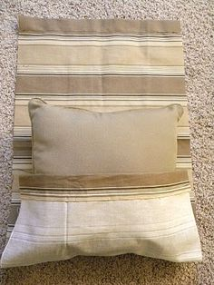 Thrifty and Chic - DIY Projects and Home Decor Easy pillows.  Do this and ten do the pucker effect