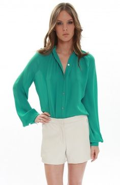 Emerald: Expensive, yes, but this top's simple, sophisticated style is made to outlast trends for years of wear.