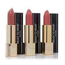 Ready To Wear HydraLuxe Lipstick Trio-Latte,Rose,Tango