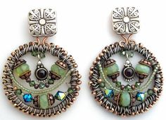 """The """"Empress"""" Earrings by Kathleen Robinson-Young"""