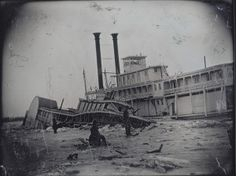 Wreck of the Steamer Calypso. (1865) Daguerreotype by Thomas M. Easterly. Missouri History Museum