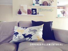 DIY Pillow DIY Zippered Pillow DIY Pillow