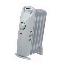 Small Electric Radiator 450 w Thermostat Room Heater Portable Warmer Home Office
