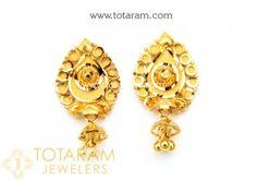 Gold Earrings For Women Online Indian 22k Back