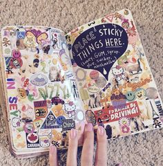 Wreck this journal Credit@Lindsey4o4 Stick things on this page