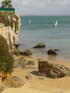 Cascais, Portugal - spent a few days on this beach after a fast paced month touring Europe we needed to just relax. Portugal Vacation, Places In Portugal, Visit Portugal, Portugal Travel, Best Beaches In Europe, I Love The Beach, Nude Beach, Azores, Famous Places
