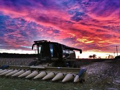 The sun is setting on another beautiful day of the MN Corn Harvest 2013.