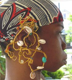 Wire Wrapped Ear Chandelier with Cowries and by IonisCreations, $15.00