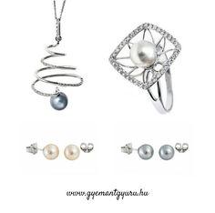 Sós vízi gyöngyökkel díszített ékszerekkel is várjuk weblapunkra, ékszerüzletünkbe a briliáns, drágaköves ékszereink mellett.