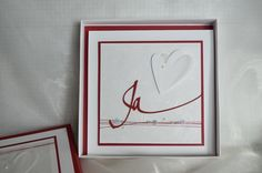 Kartenbox zur Hochzeit nmit passender Karte: CS Fedrigoni Naturweiß von Charlie&Paulchen; CS Chili  von SU; Stanze Ja von Renke; Herzstanze 3Coeurs2 kesiart, restl. Material aus eigenem Bestand
