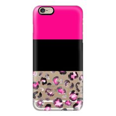 iPhone 6 Plus/6/5/5s/5c Case - Neon pink black watercolor leopard... ($40) ❤ liked on Polyvore featuring accessories, tech accessories, iphone case, apple iphone cases, iphone cases, iphone cover case, leopard iphone case and slim iphone case