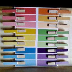 diy montessori colour gradient activity