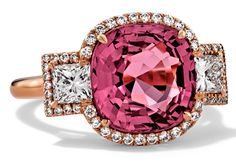 Rosendorff Amore Collection Pink Sapphire and Diamond Ring