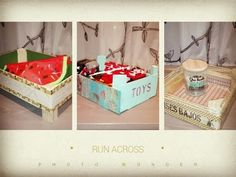 3 ideas para decorar cajas de fresas,diy recycled wood box