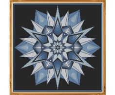 Mandala 7 Winter Counted Cross Stitch by HornswoggleStore