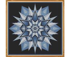 Mandala 7 Winter Counted Cross Stitch by HornswoggleStore