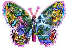 Butterfly Waterfall - 850 pieces. Finished size 25 x 35. Artist: Lori Schory.Sunsout puzzles are 100% made in the USAEco-friendly soy-based inksRecycled boardsNot sold in mass-market stores