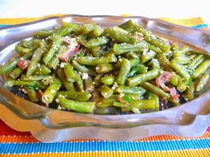 SPLENDID LOW-CARBING BY JENNIFER ELOFF: GREEN BEANS PARMESAN WITH BACON - These green beans...simple recipe...however, addictive!  I could not stop eating these! Visit us at: https://www.facebook.com/LowCarbingAmongFriends and for the best of the best! https://www.facebook.com/LowCarbHitParade