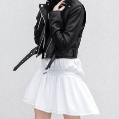 figtny.com | Primary NY Leather Jacket and Dress