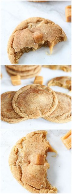 Brown Butter Salted Caramel Cookie Recipe on twopeasandtheirpo. The BEST cookies you will ever eat! I am totally subbing the salted caramel meltables in this recipe! Just Desserts, Delicious Desserts, Yummy Food, Delicious Chocolate, Doce Light, Cookie Recipes, Dessert Recipes, Salted Caramel Cookies, Salted Caramels