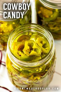 Whether you call them candied jalapenos or cowboy candy, these little slices of sweet heat make for a great gift or a fun new topping for your favorite crackers, dips, or salads. Candied Jalapenos, Pickling Jalapenos, Cowboy Candy, Pickled Eggs, Jalapeno Recipes, Best Food Ever, Sweet Sauce, Canning Recipes, Fermentation Recipes
