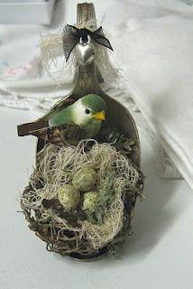 spoon nest...a closer look @a similar tag addition look-alike as shown the original Advent Calendar.