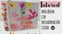 Tutorial Mini álbum ENCUADERNACIÓN  COSIDA decorada