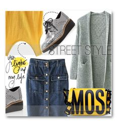 """""""Street Style"""" by stylemoi-offical ❤ liked on Polyvore featuring Rebecca Minkoff, Moschino and stylemoi"""