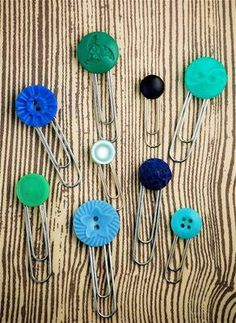 Diy button paper clips