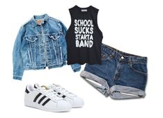 """CB Women"" by christian-bodwin on Polyvore featuring Levi's and adidas"