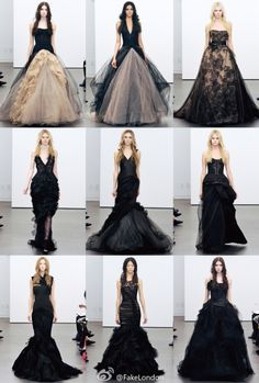 Black Vera Wang Gorgeous! I'd never have a reason to wear one, but I can appreciate them at least :)