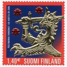 Postimerkki: Postimerkin juhla | Suomen postimerkit Mail Art, Stamp Collecting, Old And New, Stamps, Paper, Beautiful, Beauty, Finland, Seals