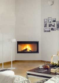 Fireplace Insert angle, compare prices on Prices Corner Gas Fireplace, Basement Fireplace, Fireplace Update, Concrete Fireplace, Home Fireplace, Modern Fireplace, Living Room With Fireplace, Fireplace Design, Fireplace Mantels