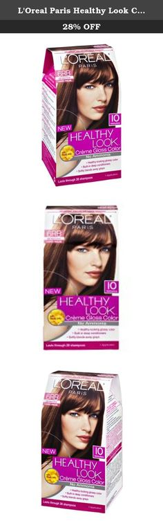 L'Oreal Paris Healthy Look Cherry Praline 6RB Light Auburn Brown Creme Gloss Color. Healthy Look Crème Gloss enhances your natural color and adds a high gloss shine. The non-permanent, ammonia-free formula deeply nourishes hair while also helping to counter dullness and prevent damage. Healthy Look softly blends away first grays, and won't leave any visible roots. The conditioning treatment infused with 100% natural Royal Jelly and Pomegranate seals in your glossy color, leaving hair…