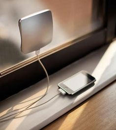 This is an amazing charger which charges your phone just by attaching this charger on the window and it charges your electric devices by transforming solar energy. It makes your life a little more Eco-friendly, and its silver color and curved surface look stylish. We like this original yet practical product.