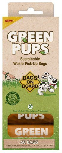 Bramton Bob Green Pups Dog Plastic Waste Bags Sustainable Refill Pack 60Pack