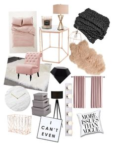 """Rose gold !!!"" by miah-grayer on Polyvore featuring interior, interiors, interior design, home, home decor, interior decorating, Urban Outfitters, Safavieh, Bloomingville and U Brands"