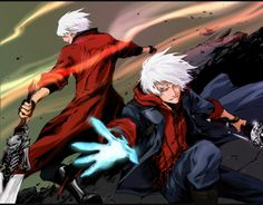 I really like Devil May Cry. problem is, I kinda suck at playing DMC games. So I just resort to people telling me game spoi. Dante and Nero Character Concept, Character Art, Nero Dmc, Chibi, Dante Devil May Cry, Ssj3, Naruto Amv, Naruto Cute, Marvel