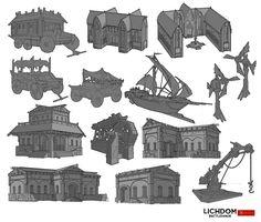 Asset designs, John Grello on ArtStation at https://www.artstation.com/artwork/asset-designs