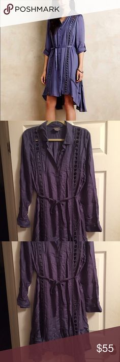 Anthropologie Vanessa Virginia Dress Gorgeous dress from Anthropologie in a size large. Slip is included. Slip is a size small but fits like a M/L. EUC Anthropologie Dresses Long Sleeve