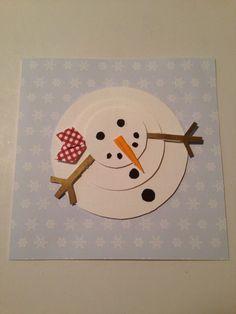 Julkort med snögubbe