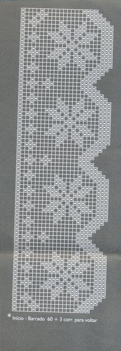 This post was discovered by be Crochet Boarders, Crochet Edging Patterns, Filet Crochet Charts, Crochet Lace Edging, Crochet Cross, Crochet Home, Love Crochet, Beautiful Crochet, Crochet Doilies