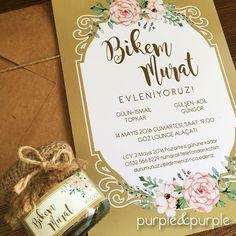 Vintage Düğün Davetiyesi | Nikah Şekeri | Nişan Şekeri | Doğal Renklerde Davetiye | Vintage | Wedding | Invitations