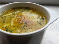 Zupa cebulowa - pyszna, zdrowa, dietetyczna. Aż ślinka cieknie:)