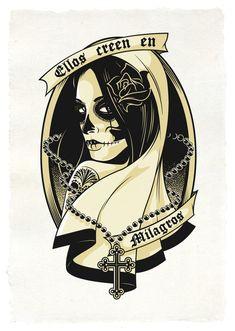 Sexy Sugar Skull Girl Drawing | mes sites tattoo girl tumblr i love supercars tattoo girl i love ...