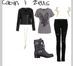 Percy Jackson. I want those combat boots so much. They're so cute.