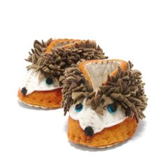 Why did the hedgehog cross the road? To get his paws on a pair of our adorable baby booties! Shop these cuties here: