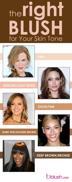 The Right Blush for Your Skin Tone: How important is finding the right blush shade for your skin tone? Hmm...let's just say, if you don't nail it, you run the risk of looking washed out, sickly, or circus-worthy. Lucky for you, we put together a convenient guide to ensure your flush is nothing short of royally gorgeous!
